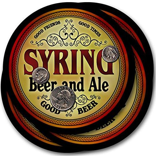 Syringビール& Ale – 4パックドリンクコースター   B003QXUWYM