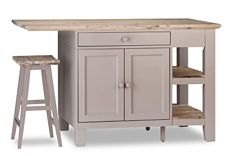 Florence Truffle Kitchen Island Large Kitchen Island Breakfast Bar With Cupboard Drawers And Shelves Quality
