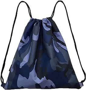Azul Camuflaje Senderismo de cordón, bolsas de viajar