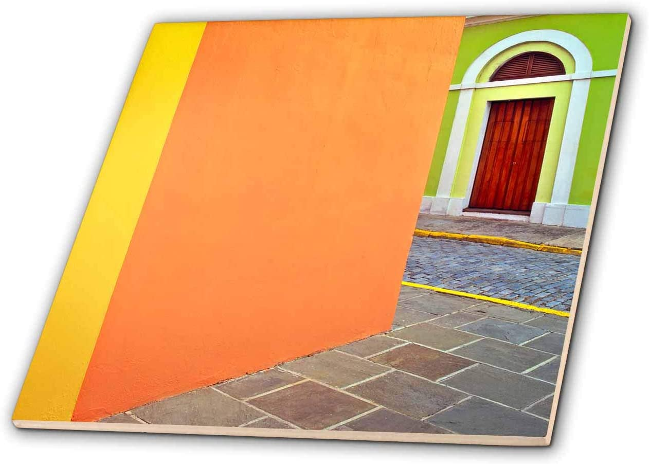 3dRose Caribbean, Puerto Rico, San Juan. Door and colorful building walls. - Tiles (ct_329674_7)