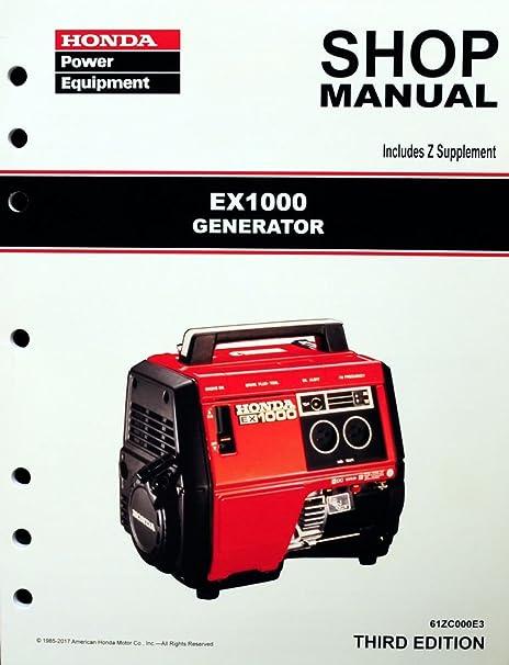 amazon com honda ex1000 generator service repair shop manual rh amazon com honda em6500sx owners manual honda em6500s owners manual