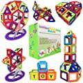 Desire Deluxe Magnetic Blocks Building Tiles Stem Toys Set 94pc Children Creativity Educational Magnet Construction Present Toy For Girls Boys Age 3 4 5 6 7 Year Old Gift For Kids