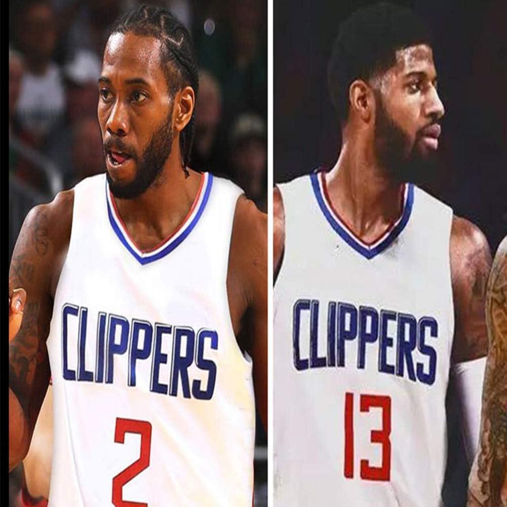 ZGJY Los Angeles Clippers Kawhi Leonard # 2 Maillot Shorts-Classique Ensemble sans Manches Basket-Ball pour Hommes Et Unisexe Surv/êtement T-Shirt Surpiqu/é Lettres
