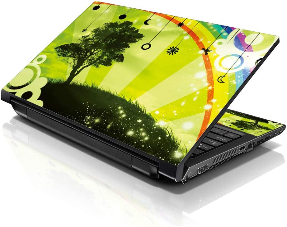 LSS Laptop 15 15.6 Skin Cover with Colorful Rainbow Harmony Pattern for HP Dell Lenovo Apple Asus Acer Compaq - Fits 13.3