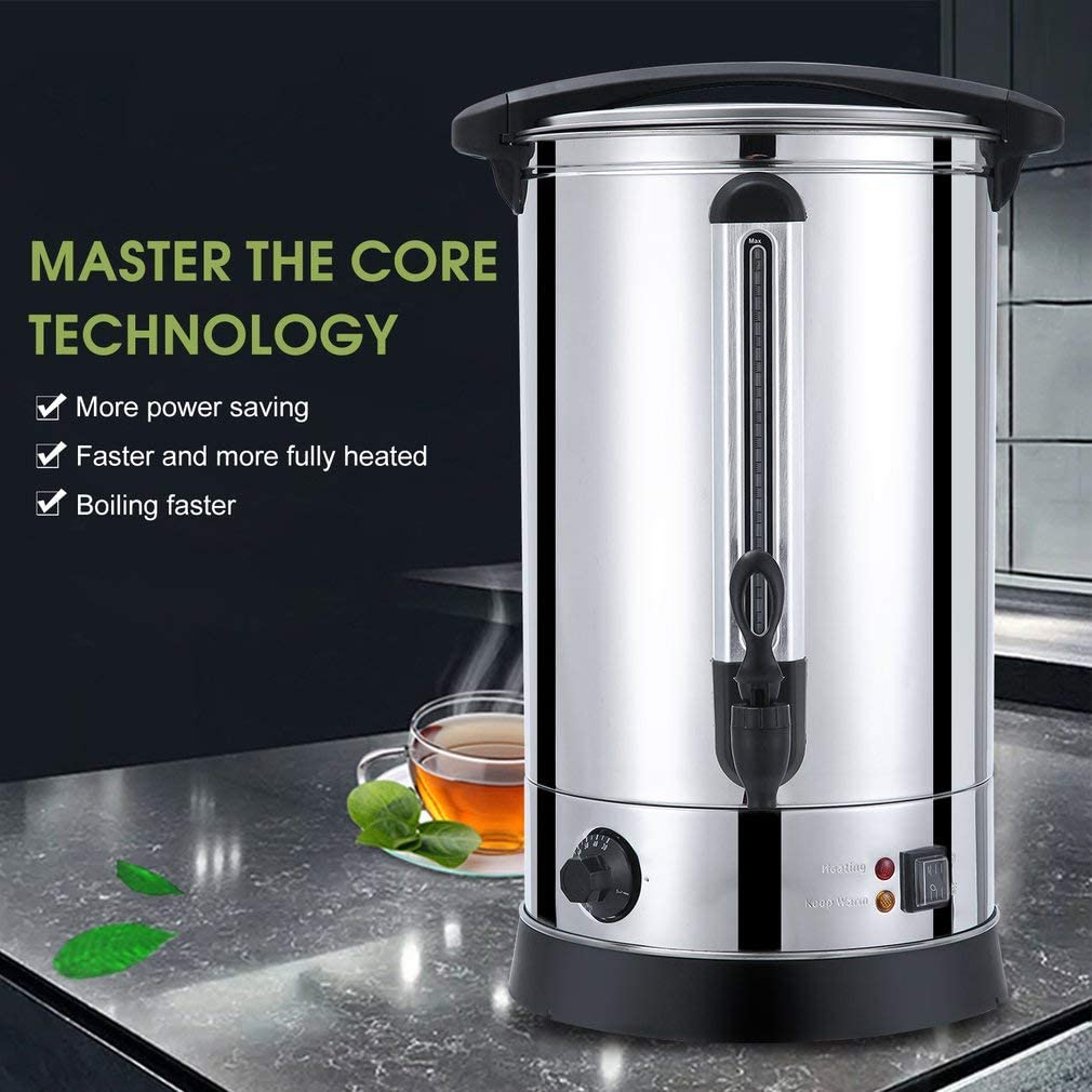 Commercial or Office Use blackpoolal Catering Urn Ideal for Home Brewing Stainless Steel Hot Water Dispenser Perfect for Tea Hot Water Boiler /& Dispenser 30 Litre Capacity