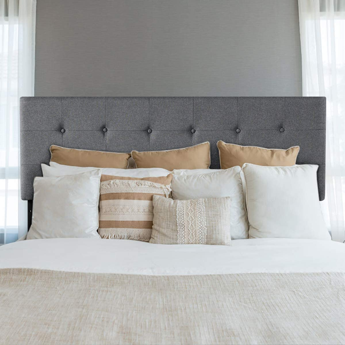 Giantex Modern Upholstered Headboard