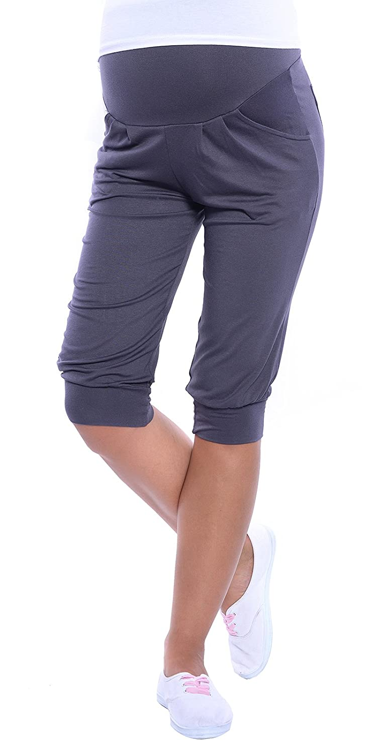 MijaCulture Capri Relaxed Light Maternity Cropped Trousers Short 4037