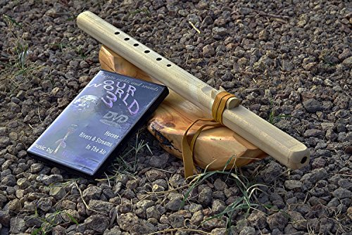WIndpony key of F# 6-hole Unfinished Poplar Native American Style Flute with DVD