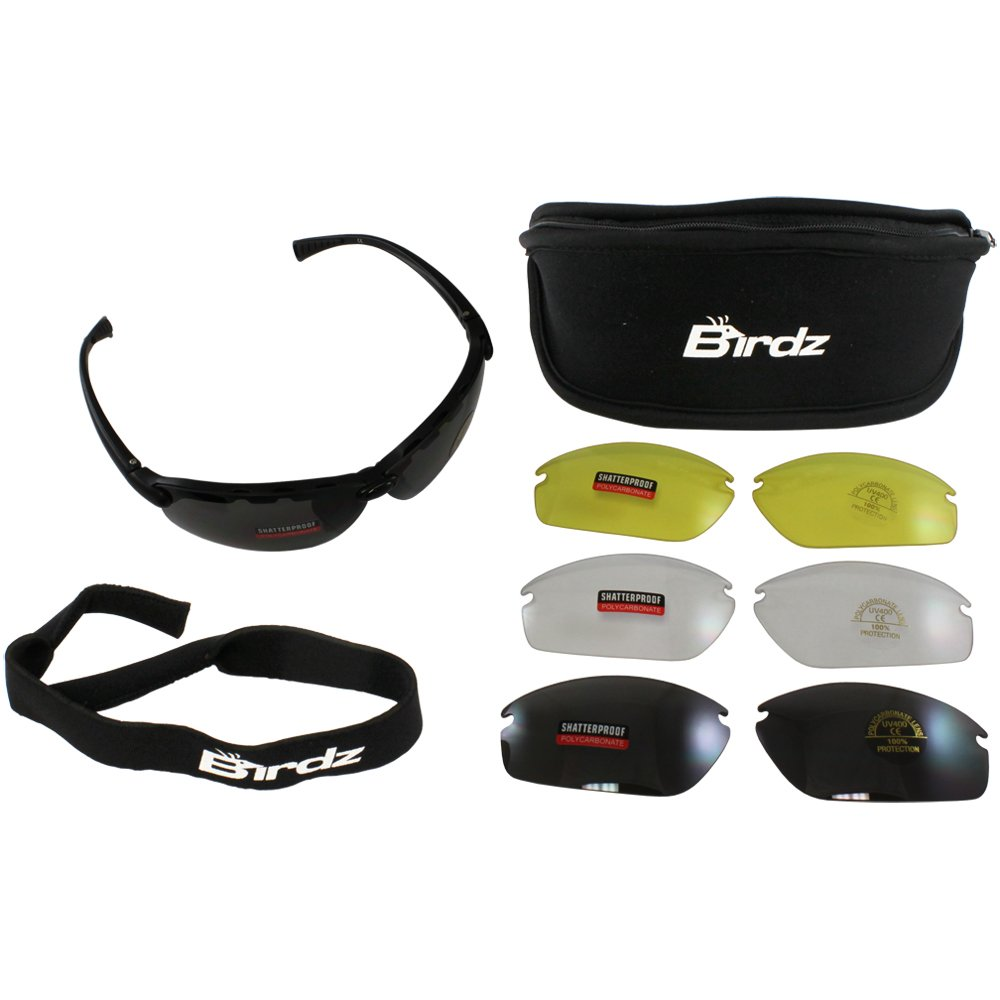 6c990dc945 hot sale Birdz Eyewear HawkKit1 Interchangeable Glasses (Black Frame Clear