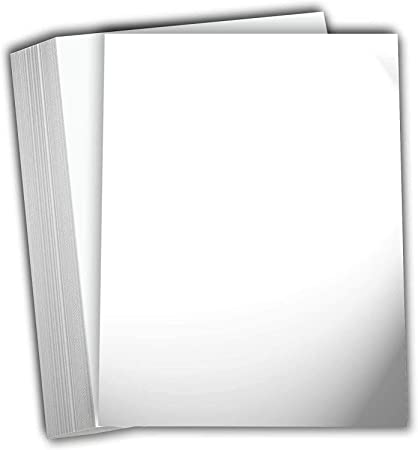 5 x 5 Flat Card Pack of 50 120lb Glossy White
