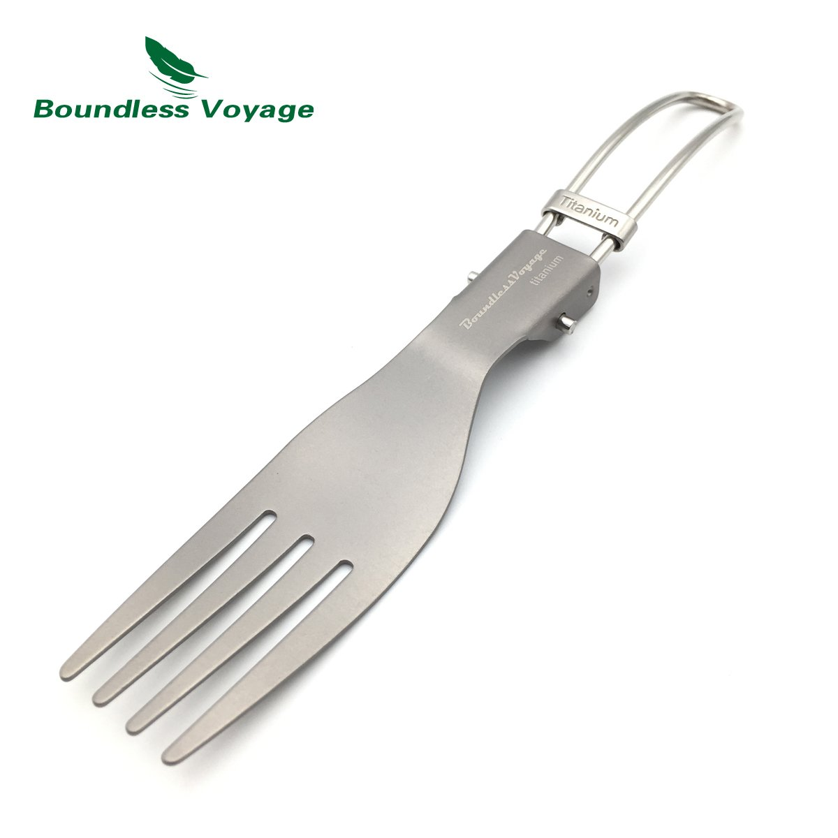 Boundless Voyage Folding Titanium Cultery Ultralight Fork Spoon Chopsticks and Spork for Camping