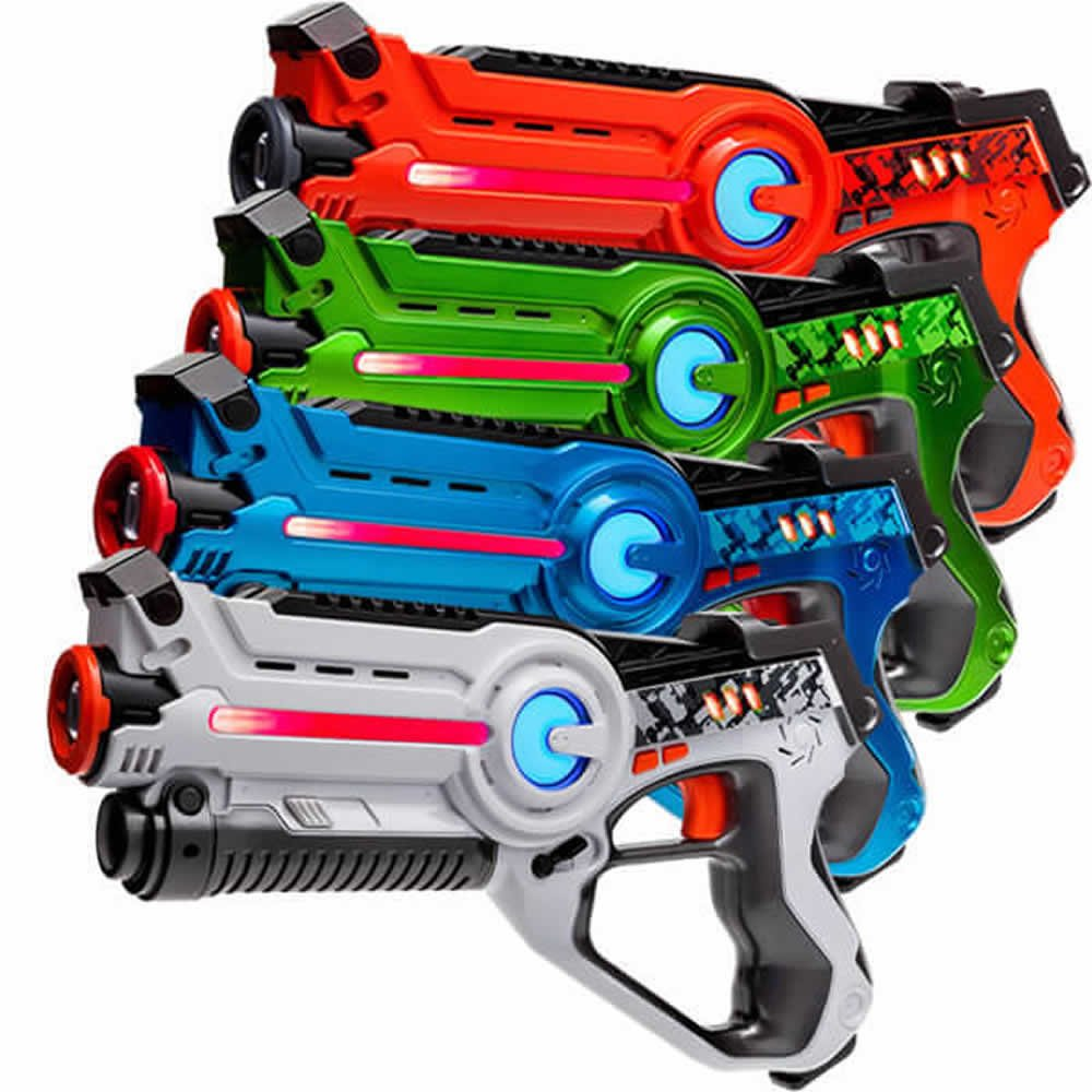 Laser Tag Set: 4x Light Battle Active Laserpistolen - Lasertec laserspiele für Kinder - LBAP1041234