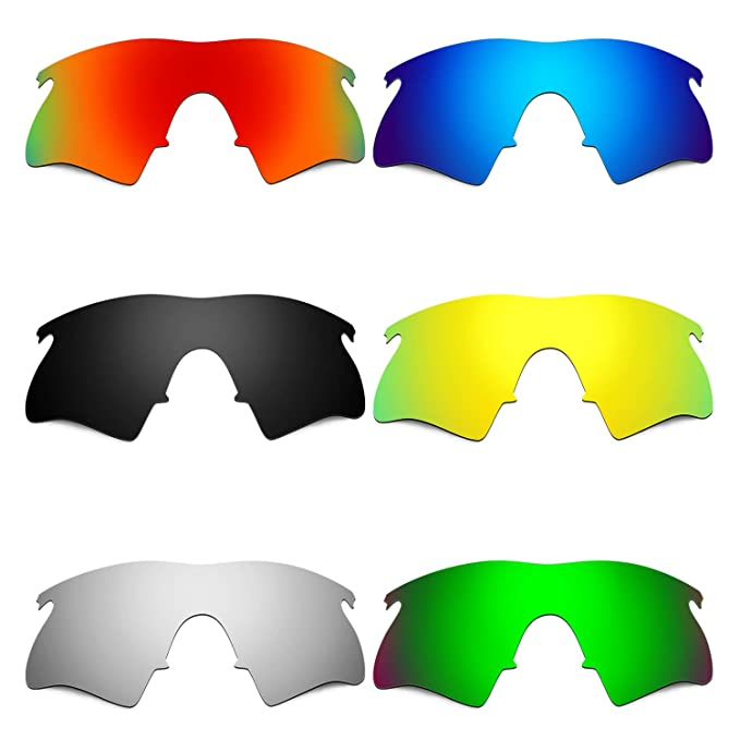 2684658179 Amazon.com  Hkuco Mens Replacement Lenses For Oakley M Frame Heater Red Blue Black 24K  Gold Titanium Emerald Green Sunglasses  Clothing