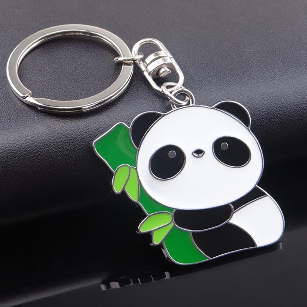 Livecity Lovely Panda Metal Keyring Keychain Car Key Holder Bag Pendant Gift 1#