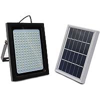 PQZATX 150 LED Solar Power Flood Light Sensor Motion Activated Outdoor Garden Path Lamp