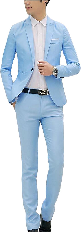 Jueshanzj Herren 2-Teilig Anz/üge Freizeit Anzugjacke mit Anzughose Anzug Set