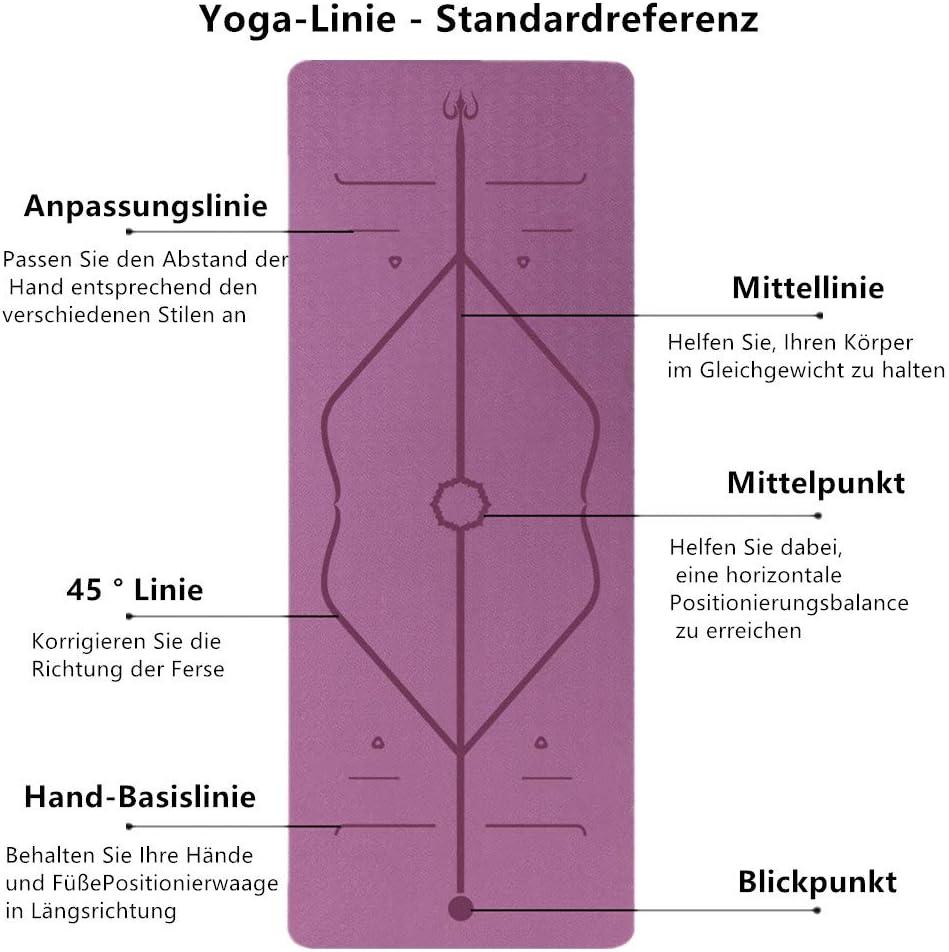 hipoalerg/énica y respetuosa con la piel pilates y fitness. Crralos certificado SGS Esterilla de yoga antideslizante para yoga y TPE es antideslizante para yoga material respetuoso con el medio ambiente
