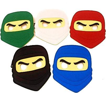 Amazon.com: Kool KiDz 10 máscaras de ninja para cumpleaños ...