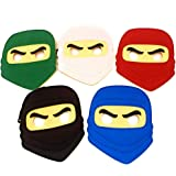 Kool KiDz 10 Ninja Masks for Birthdays, Halloween Costumes, Party Supplies, Games and More - Comfortable, One-Size-Fits…