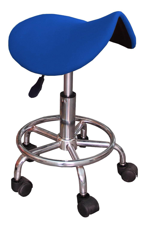 Sgabello a sella ergonomico GB blu con ruote regolabile in altezza da 45 a 60 cm sedia … Ogalbe