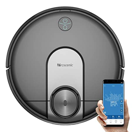 Proscenic M7 Robot Vacuum Cleaner, Laser Navigation, App Alexa Control, 2600 Pa Powerful Suction, Carpet Boost, Electronically-controlled Water Tank for Carpet Hard Floors