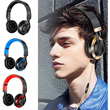 Dickin Wired Gaming Stereo Foldable Headband Headset Sport Music Earphone Headphones