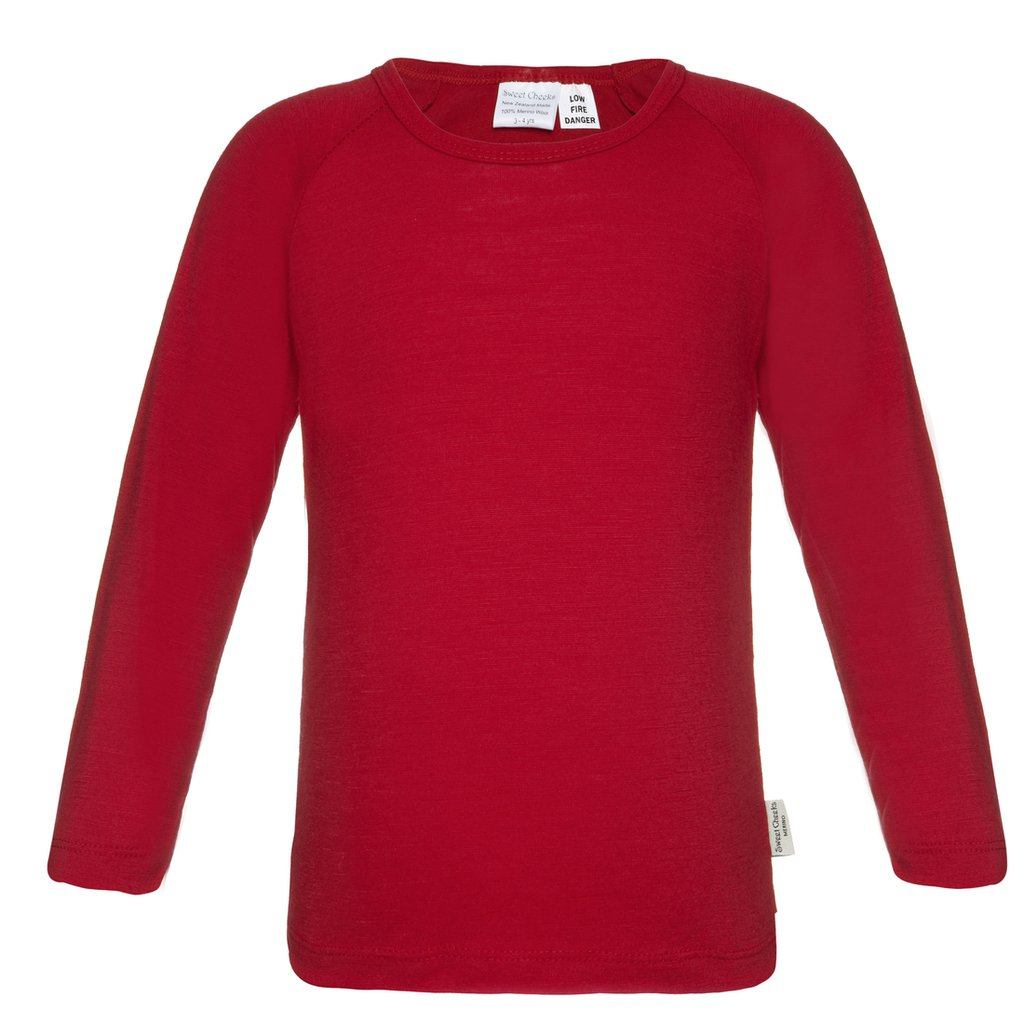 Sweet Cheeks Merino Big Boys' 7-8 yrs Long Sleeved Top 100% NZ Merino Wool RAGTOP-7-8YBOY-$P