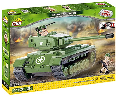 SMALL ARMY /2471/M 26 PERSHING, 450 building bricks by Cobi (Tank Lego)