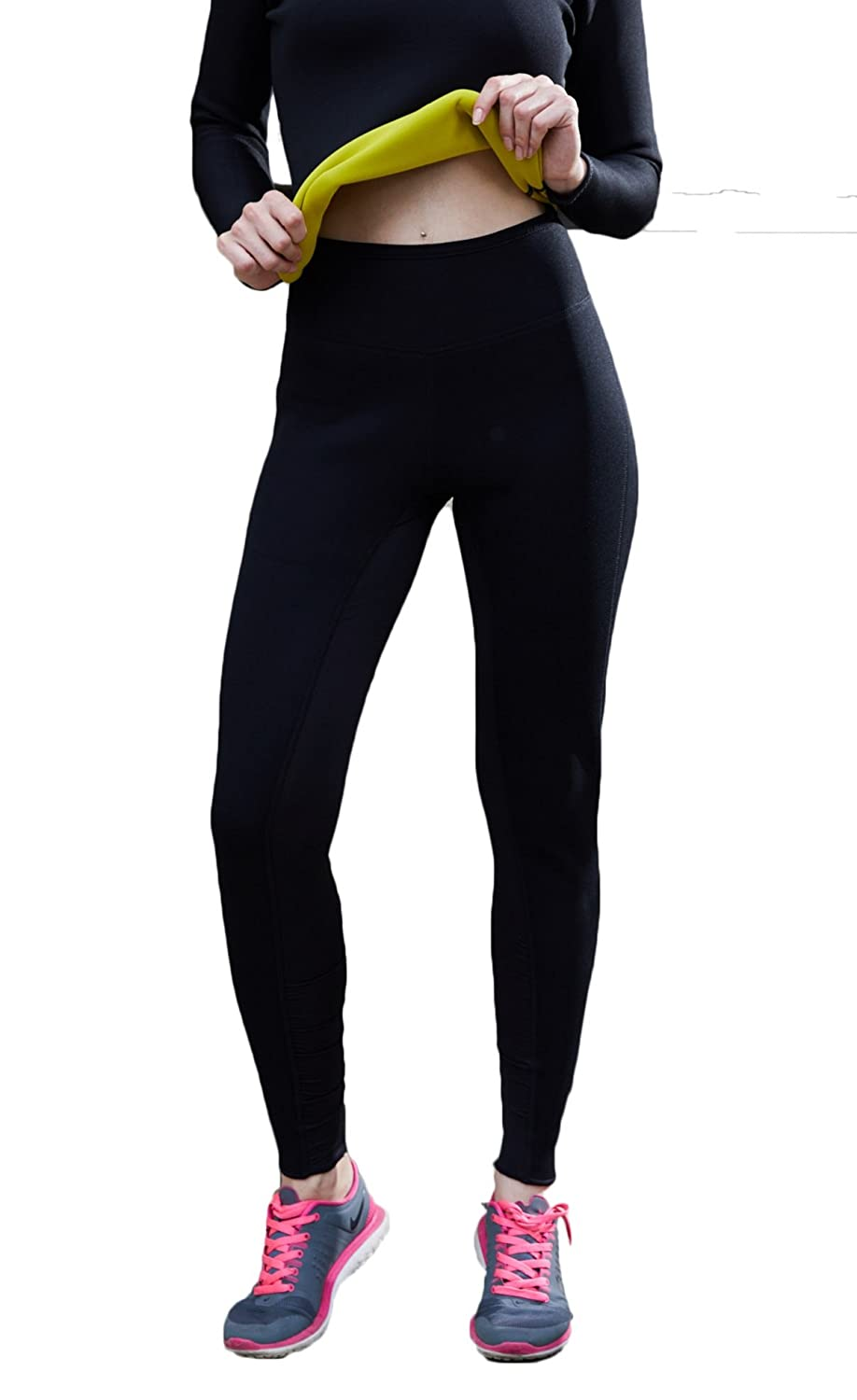 Stworld Hot Body Shapers Breathable Thermal Neoprene Sweat Sauna Long Slimming Pants for Weight Loss