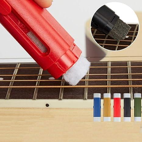 Leezo Limpiador de cuerdas de guitarra eléctrica con lubricante ...
