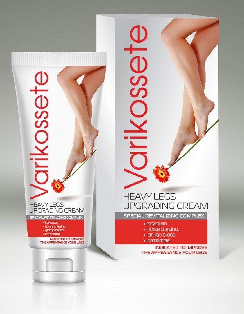 Jambes lourdes de crème de jambe de Varicose, jambes fatiguées traitement cosmétique des varices VARIKOSETTE