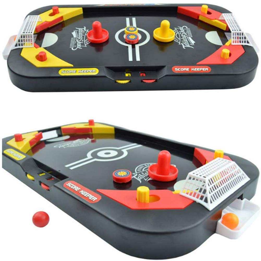 YUYUGO Tabletop Air Hockey Game 2 in 1 Soccer and Knock Hockey Table Top Game - Classic Arcade Games Tabletop Shooting Fun Toys for Kids Adults by YUYUGO