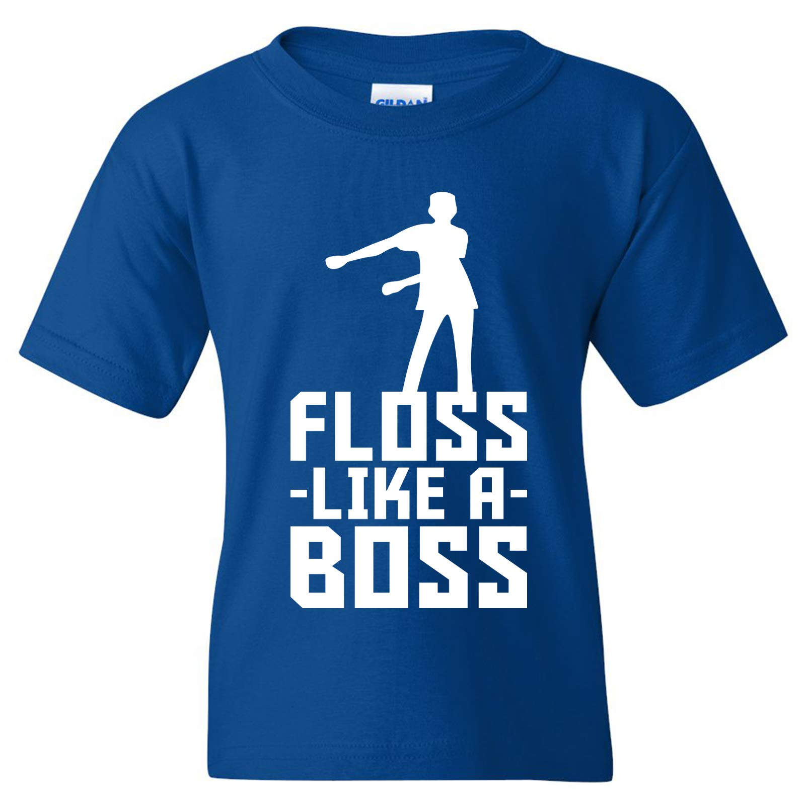 Floss Like A Boss - Back Pack Kid Flossin Dance Funny Emote Youth T Shirt - Medium - Royal by UGP Campus Apparel