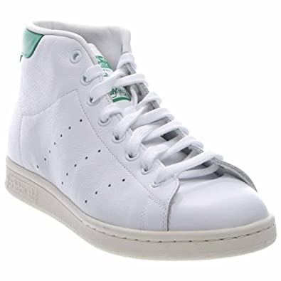 b6a62d21b41 adidas B24538 Men s Originals Stan Smith Mid Trainers White Green Size 11   Amazon.co.uk  Shoes   Bags