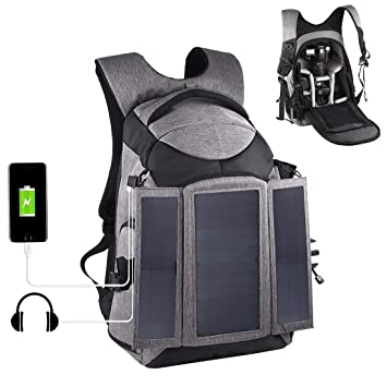 Amazon.com: PULUZ - Bolsa de carga solar para cámara de 14 W ...