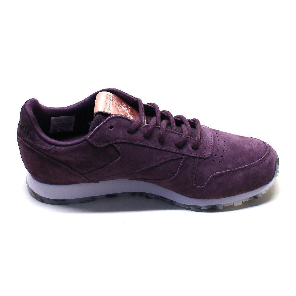 Amazon.com: Reebok - Classic Leather Shmr - BD1520 - Color: Violet - Size: 6.0: Shoes