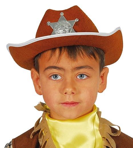 9b7e82e3da6cb Guirca - Sombrero de vaquero sheriff de fieltro