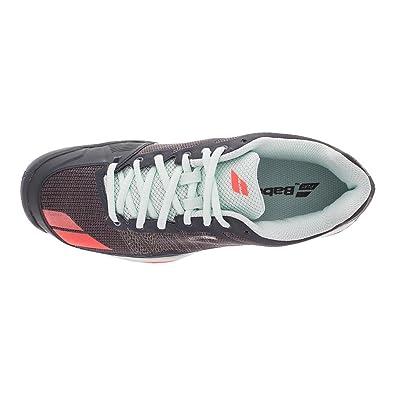 Amazon.com | Babolat Women's jet team All Court tennis shoe, Grey/Red/Blue  | Tennis & Racquet Sports