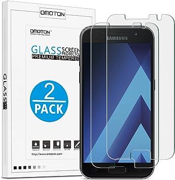 OMOTON [2 Unidades] Galaxy A3 2017 Protector de Pantalla,Cristal ...