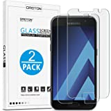 [2 Pack] Samsung Galaxy A3 2017 Screen Protector - OMOTON Tempered Glass Screen Protector for Samsung A3 (2017) with [2.5D Round Edge] [9H Hardness] [Crystal Clear] [Scratch Resist] [No-Bubble]
