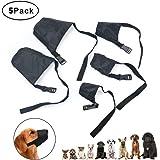 Idepet 1SET Dog Muzzles Suit,5PCS Adjustable Dog Mouth Cover Anti-Biting Barking Muzzles Small Medium Large Extra Dog
