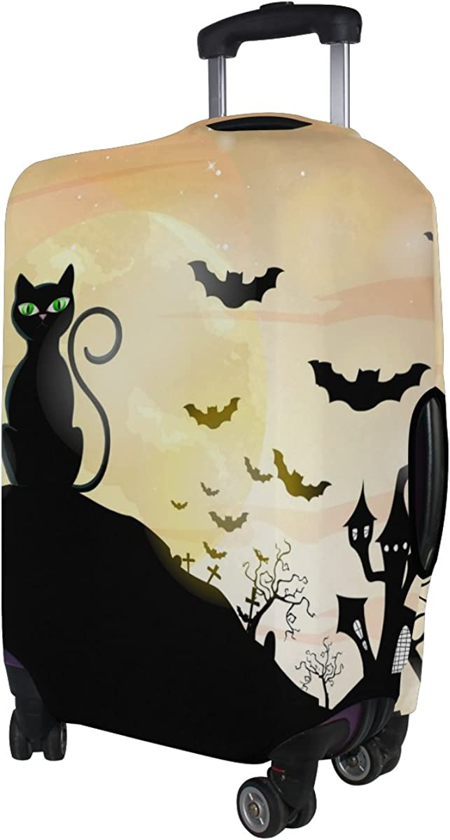GIOVANIOR Happy Halloween Cats And Bats Luggage Cover Suitcase Protector Carry On Covers