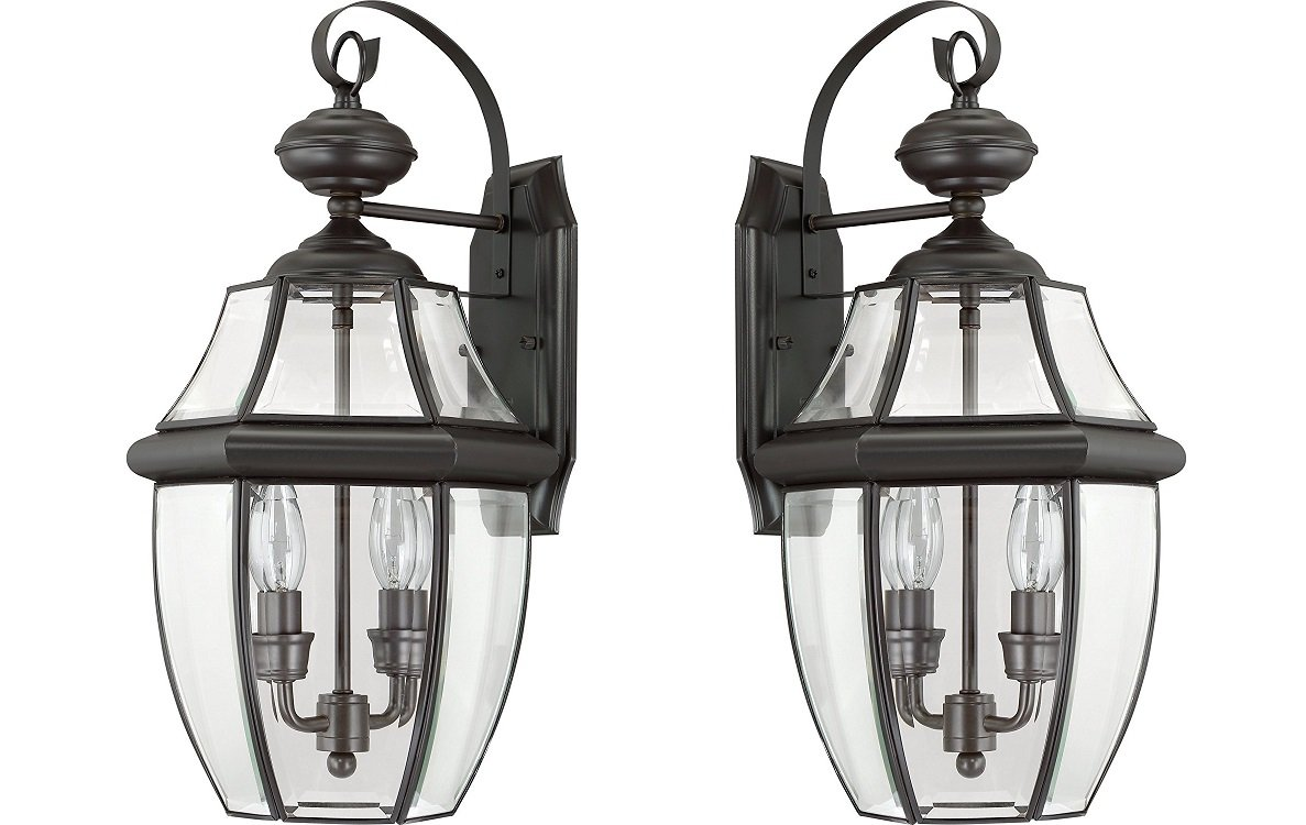 Ciata Lighting 2-Light Newbury Medici Bronze Outdoor Lantern - 2 Pack by CIATA
