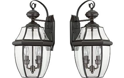 amazon com quoizel ny8317z 2 light newbury outdoor lantern in