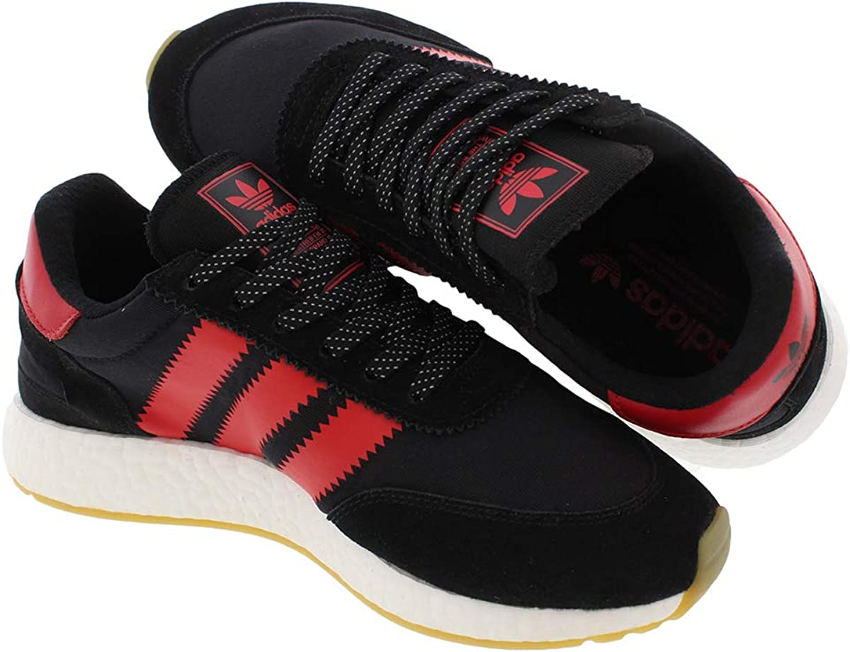 Adidas Mens Fabric Low Top Lace Up Fashion Sneakers Core Black/Dore Red/White