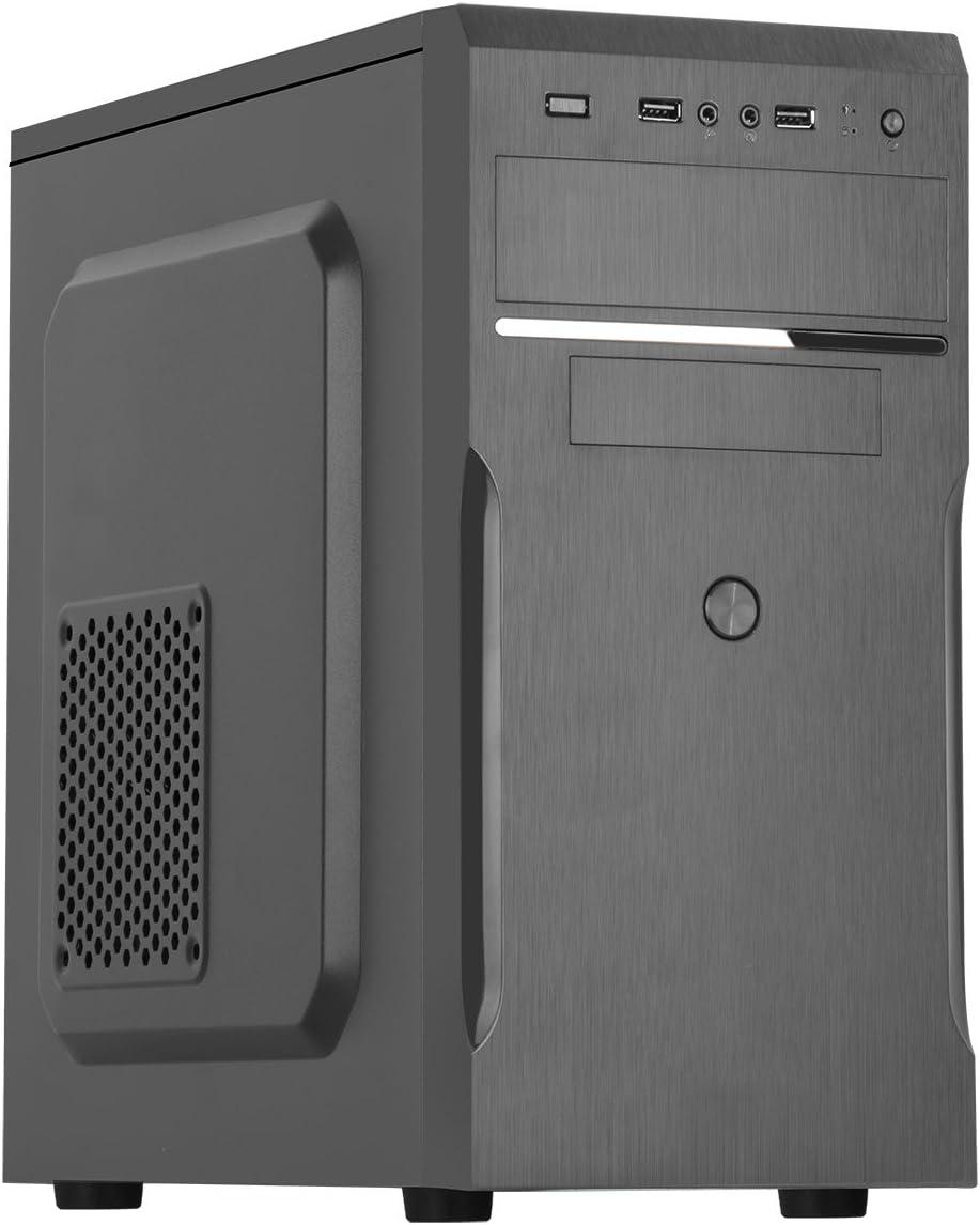 CiT MX-A05 - Caja de Ordenador de sobremesa (500 W), Negro: Amazon.es: Informática
