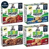 Quaker Kids Organic Whole Grain Bars & Bites Sampler Pack, 4 boxes, 20 Count