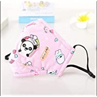 TALABETY Kids Washable Anti Pollution Cotton Mask with Valve Filter (Pink Bear)