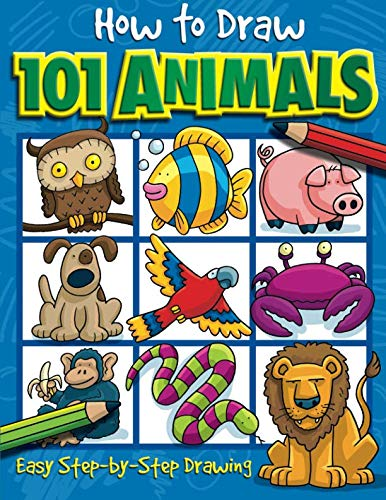 How to Draw 101 Animals Cool Designs To Color