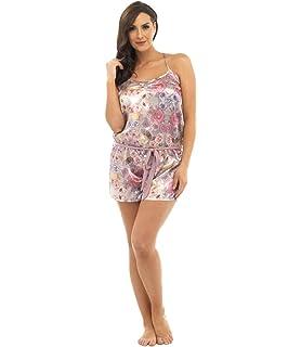 Damen Blumenmuster Nachthemd Pyjama Nachtbekleidung Hemd Baumwolle Langärmlig